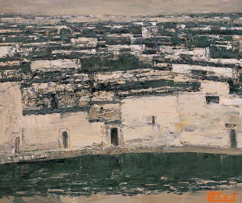 许江-逝去的和将要逝去的风景99老村-淘宝-名人字画